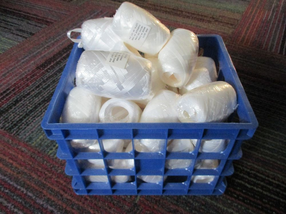 """NEW LOT OF 36 BARRELS WHITE 3/16"""" CURLING RIBBON, 34 WHITE & 2 COLOR. VARIOUS SZ #AnyOccasion"""