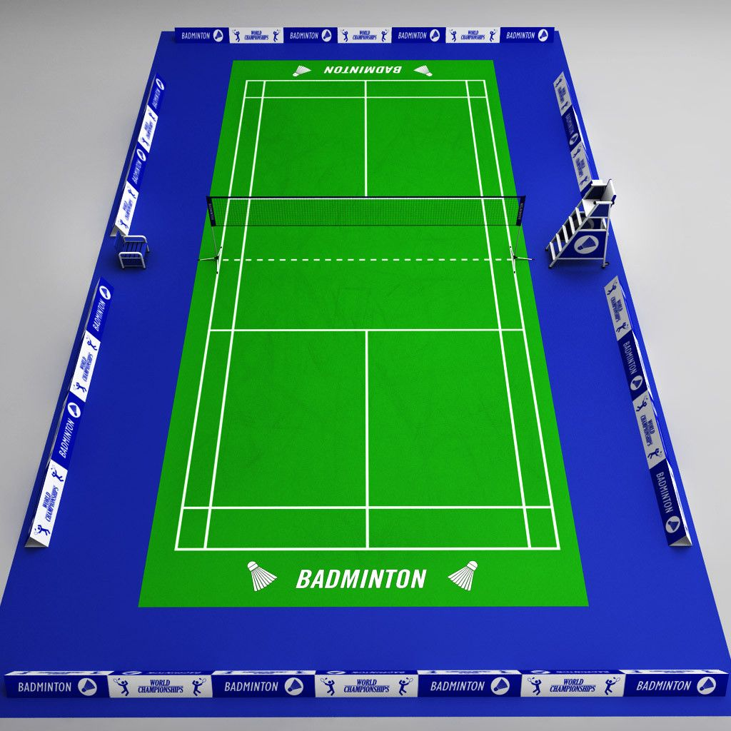 3d Badminton Court Arena Model 3d Model In 2020 Badminton Badminton Court Court