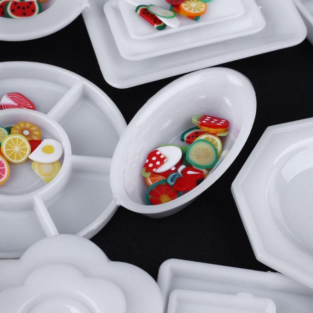 33 teile/satz Puppe Küche Mini Acryl Geschirr Miniaturen Tasse ...