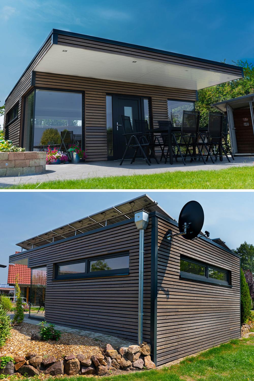 Exklusiver Holzrahmenbau Holzrahmenbau Gartenhaus Haus