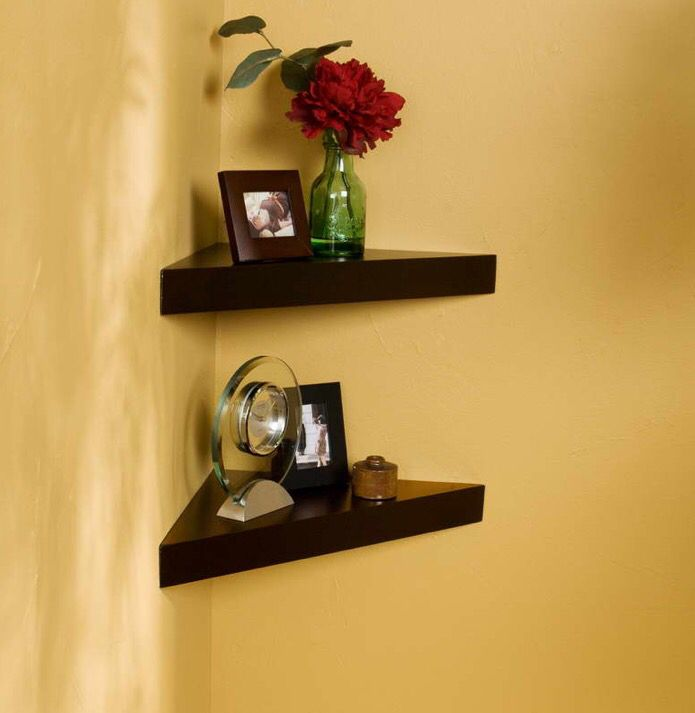 Corner wall shelves | Ideas | Pinterest | Corner wall shelves ...