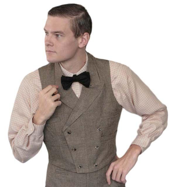 Long dress 1920s vest