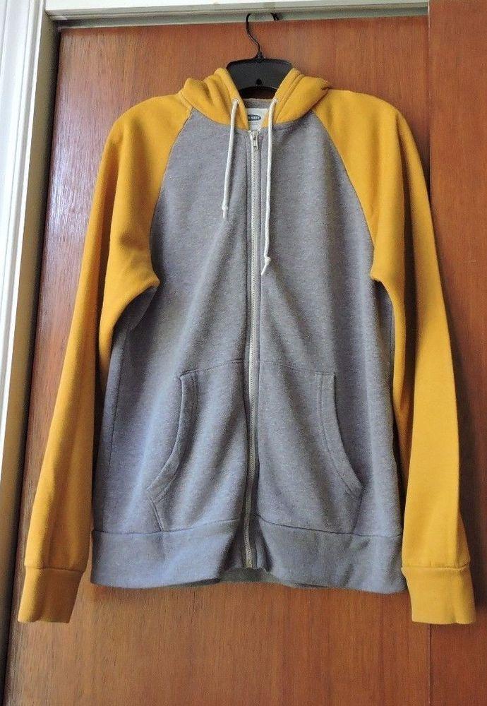 Old Navy Gray Yellow Zip Up Men Sweater Size M #OldNavy #FullZip ...