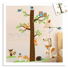 Luxury Wandtattoo Wandsticker XXL Deko Tier Kind Messlatte Wald Affe Kinderzimmer Baum