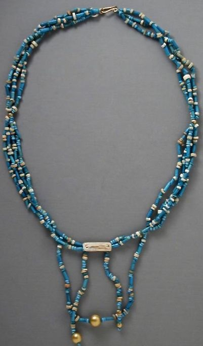 Faience & Gold Late Period Ptolemaic 711-30 BC