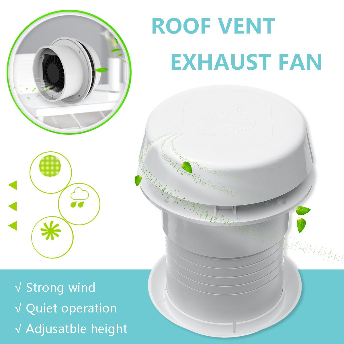 12v 1800 Rmp Rv Car Motorhome Roof Vent Ventilation Cooling Exhaust Fan Car Electronics From Automobiles Motorcycles On Banggood Com Exhaust Fan Roof Vents Motorhome