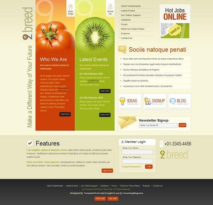 Creative Website Templates mobile Internet | Online Marketing ...