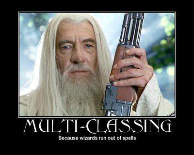 Multi-classe (porque magos ficam sem magias...)!