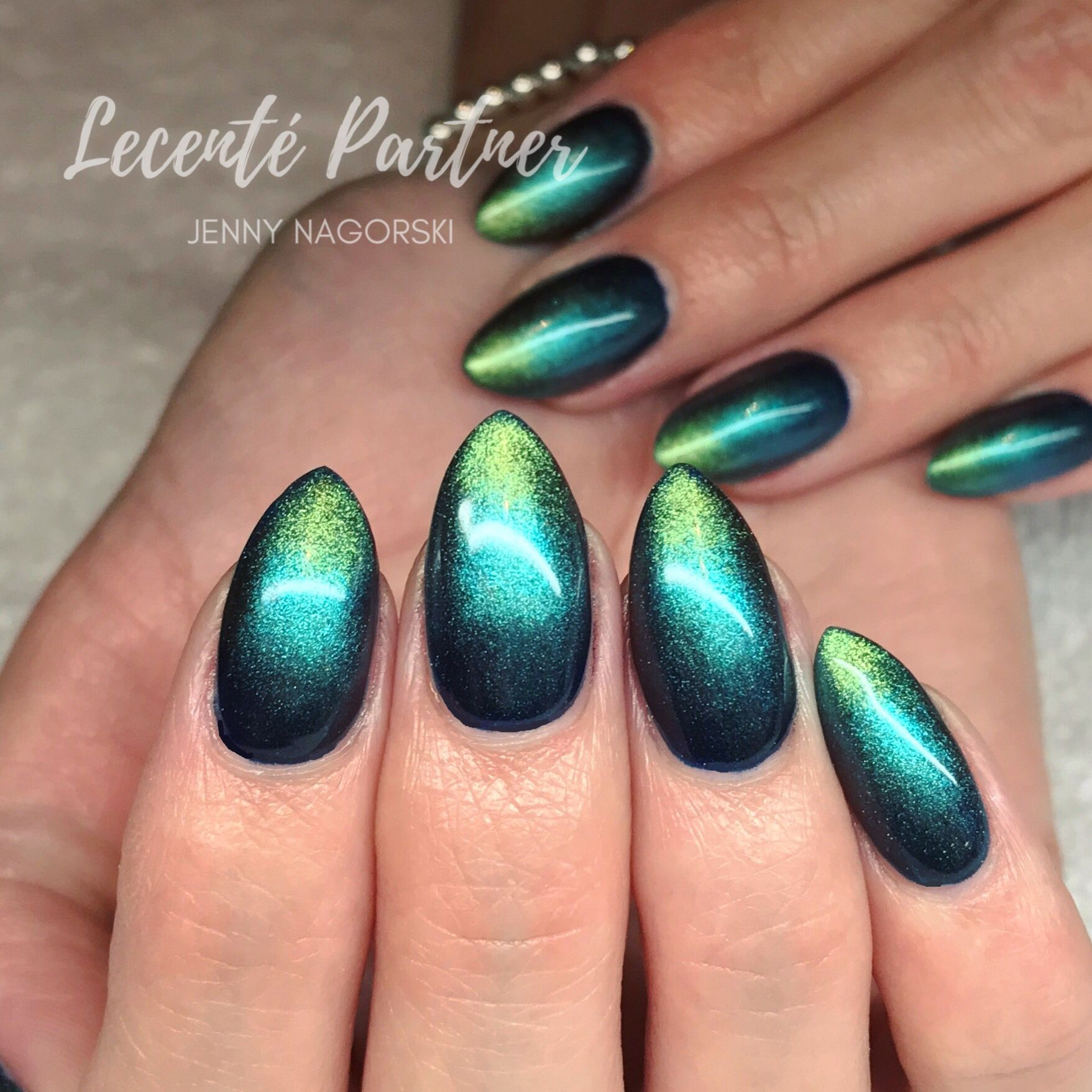 Chrome Nail Powder Cnd: CND Shellac And Lecente Stardust And Chrome Powders