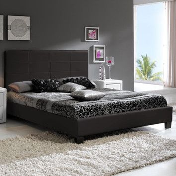 Best Berta Industrial Queen Standard Bed Furniture 400 x 300