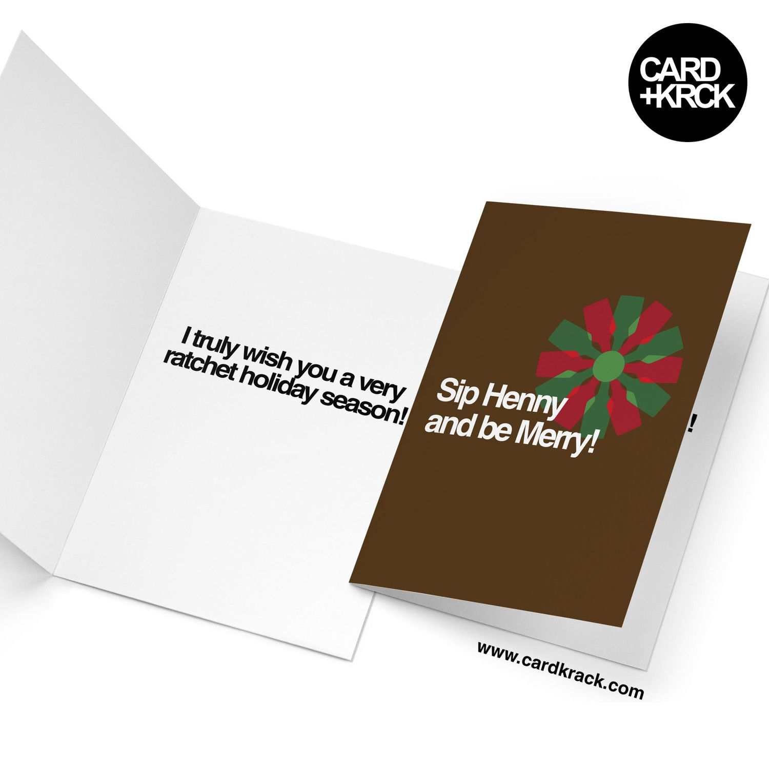 Drink henny and be merry greeting card available at