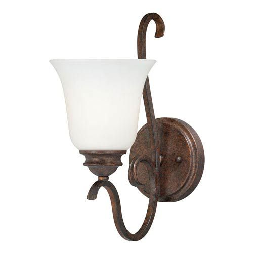 Photo of Vaxcel W0161 Hartford 6 inches. One-light washstand lamp made of weathered bronze patina, transition | Bellacor
