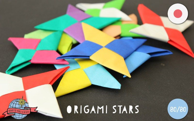 Origami Stars | Japan | Around the World in 80 Days | Moomookachoo