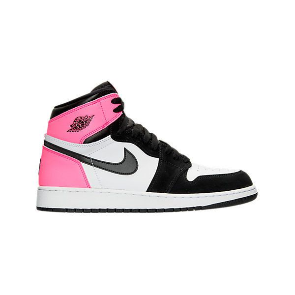 on sale bd216 12eb2 Girls  Grade School Air Jordan Retro 1 High OG (3.5y - 9.5y)... ( 120) ❤  liked on Polyvore featuring shoes