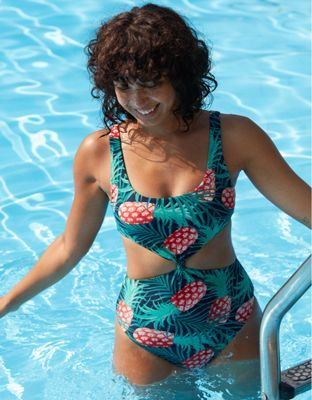 32d9ad5813c Aerie Twist Cutout One Piece Swimsuit by American Eagle Outfitters | One  piece, love