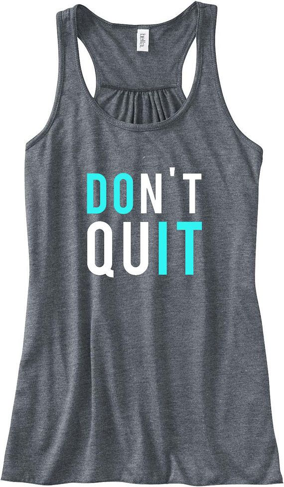Everfitte Dont Quit Do It Motivational Gym Grey Womens Muscle Tee