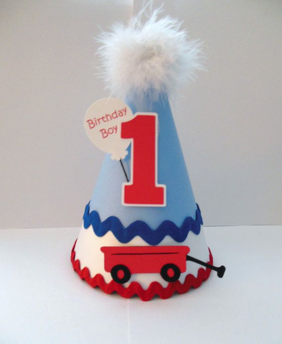 Little Red Wagon Party Hat Personalized By SandysSpecialtyShop 1550