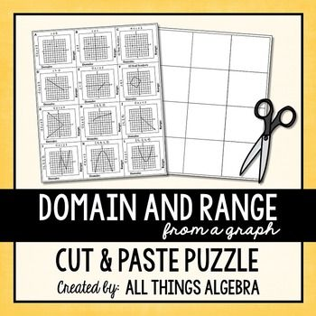 Domain and Range (From a Graph) Puzzle Ranges, Algebra and Students