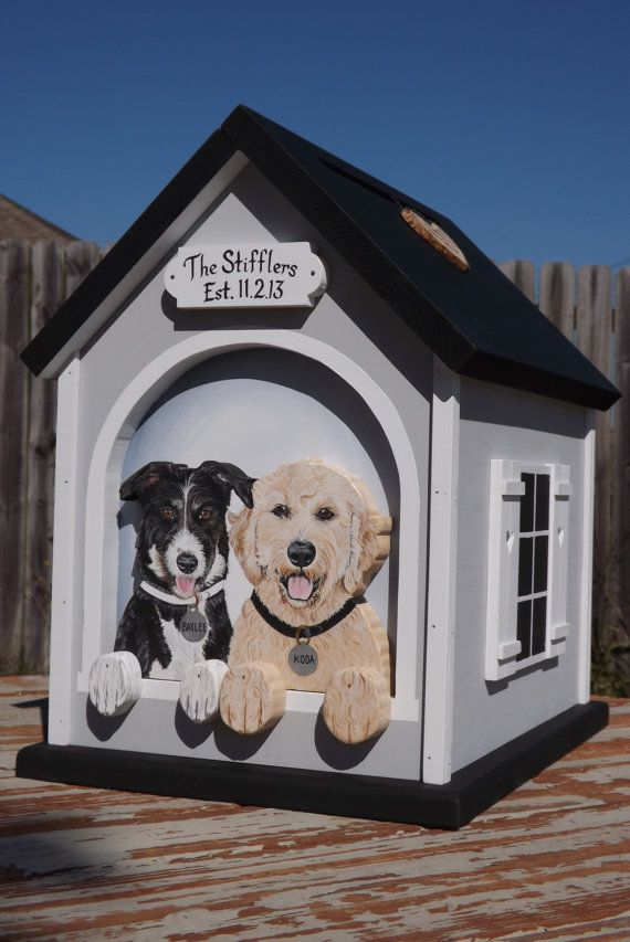 Love It But With Ellie And Guinness Large Wedding Card Box Dog