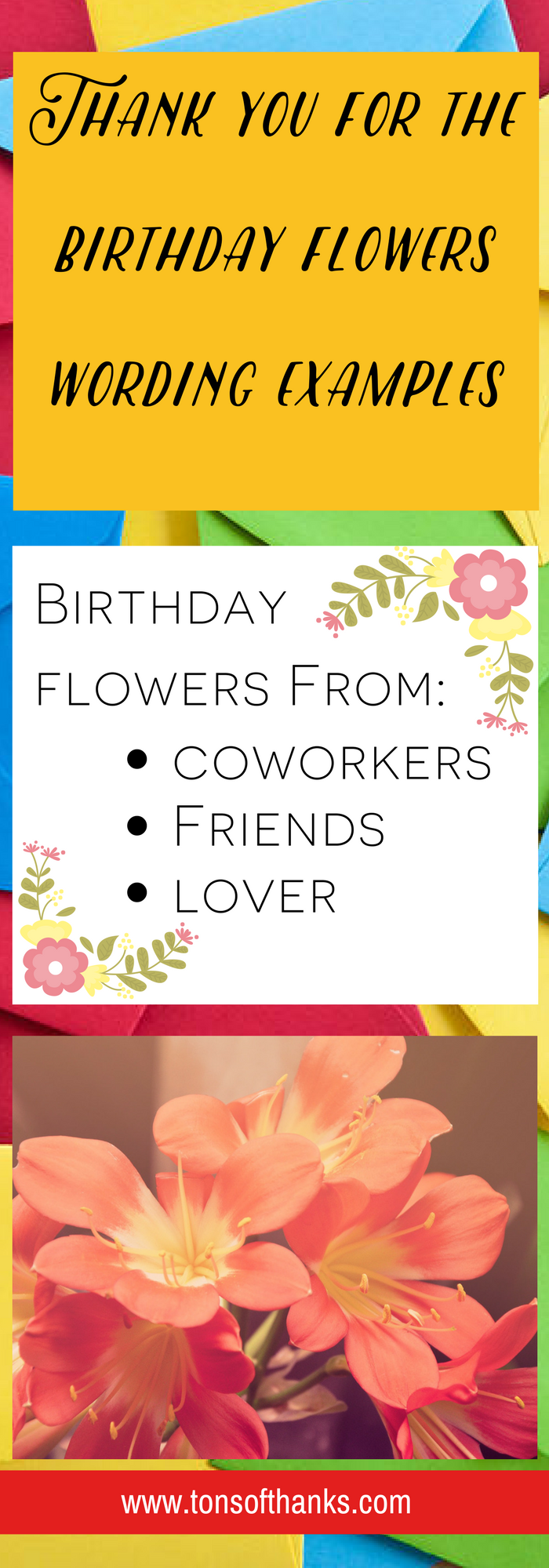 Thank you for the birthday flowers wording examples thank whoever thank you for the birthday flowers wording examples thank whoever gave your birthday flowers with izmirmasajfo