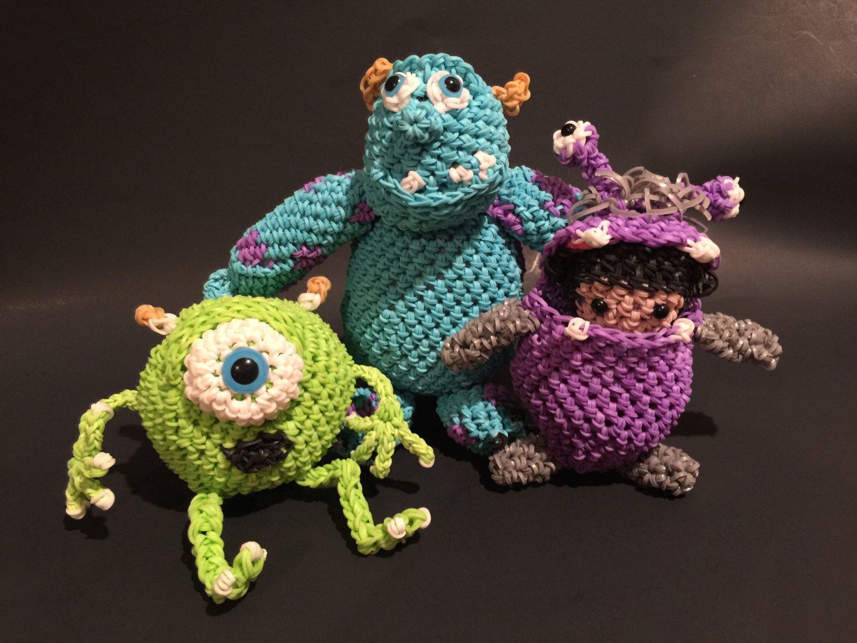 Amigurumi Monsters Inc : Disney s monsters inc combo play pack rubber band figures rainbow