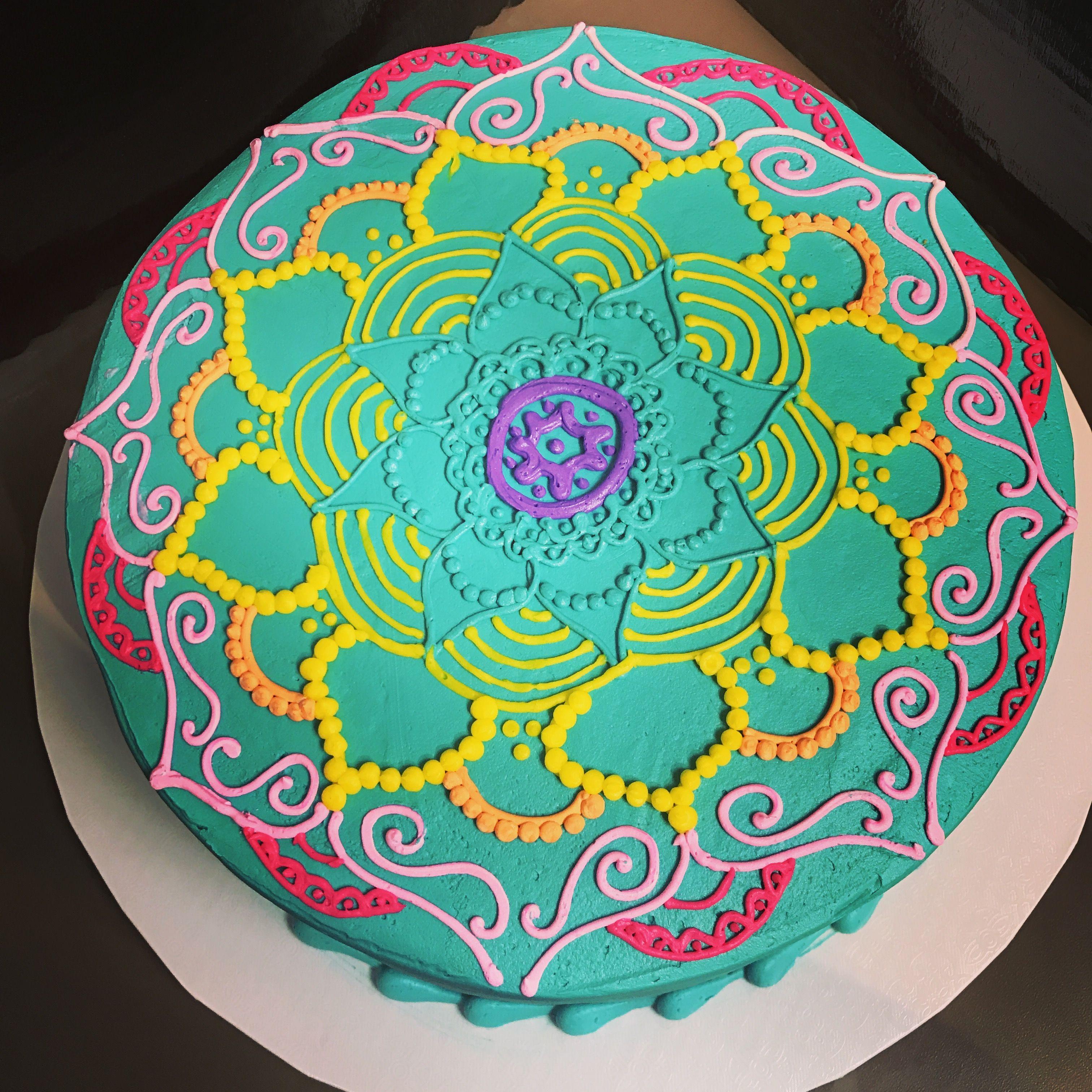 Hy-vee Lincoln 1 Mandala Round Cake