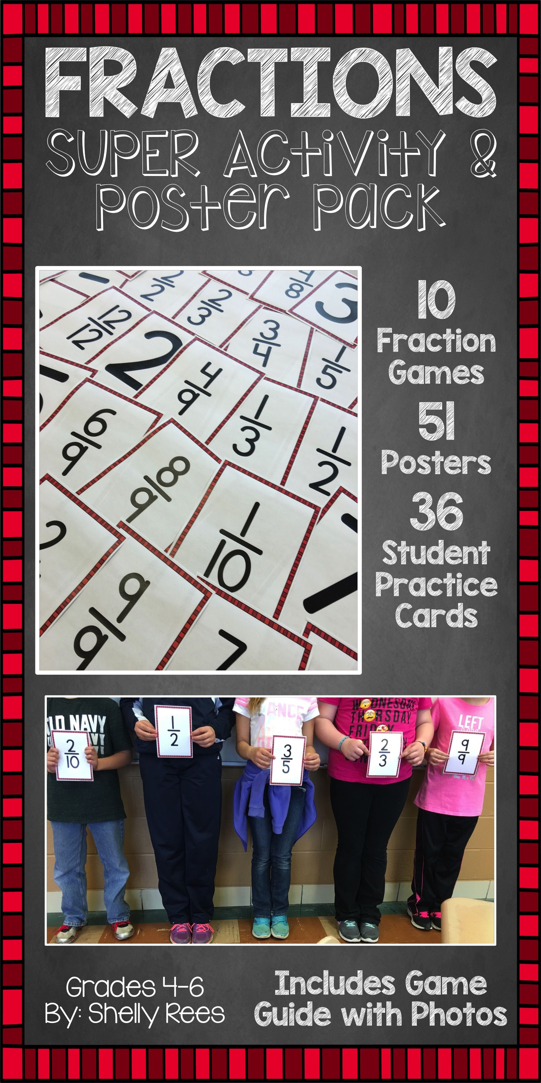Fraction Games Cards And Poster Packet
