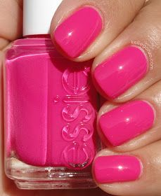 Essie Poppy Razzi Collection Light Pink Nails Hot Pink Nail