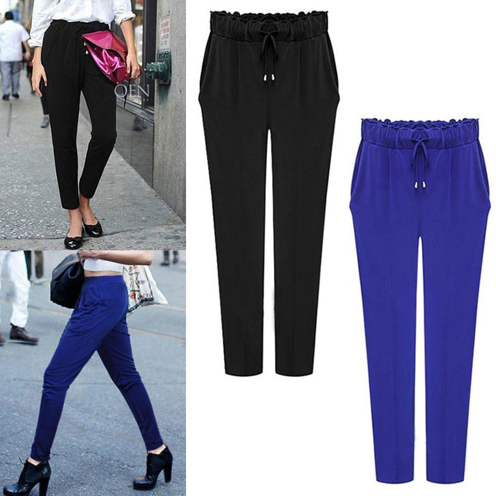 Fashion Women Ladies Long Harem Pants Trousers AU Size 12 14 16 18 20 22 24 #306