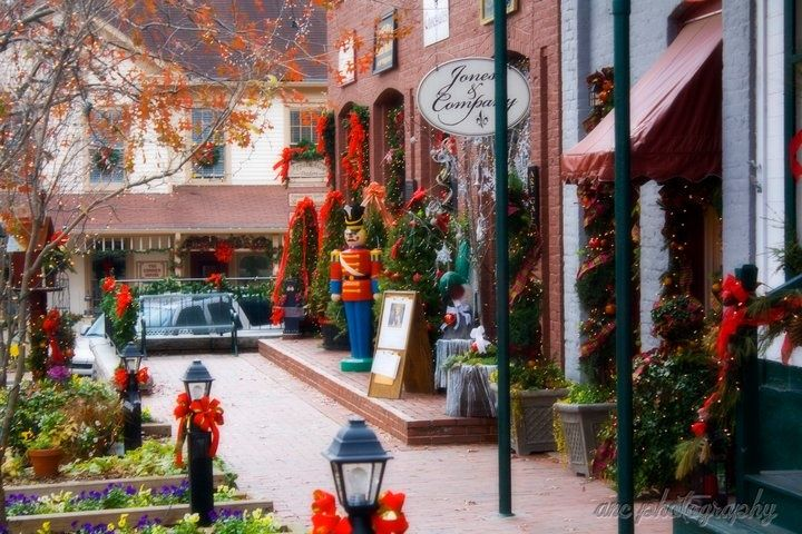 Old Fashioned Christmas Decorations Festivals  Events Christmas - christmas town decorations