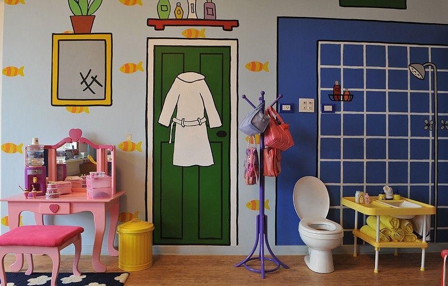 Espa o para brincar em casa vaso sanitario infantil - Pintura para sanitarios ...