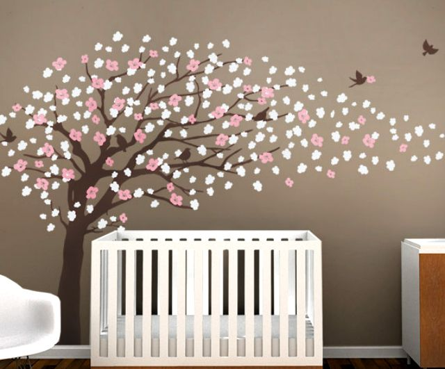 Wall Decals Like This Cherry Blossom Design Are A Creative Way To Enhance A  Nursery.