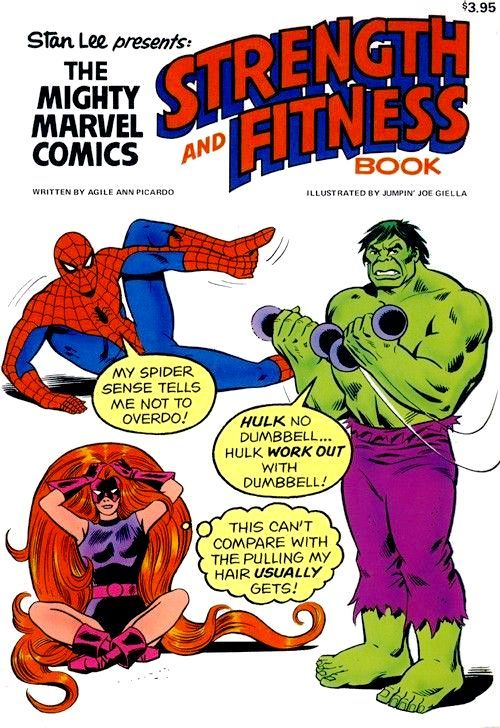 THE BRONZE AGE OF WORKING OUT Visions Of The Mighty Marvel Strength And Fitness Book Circa 1976