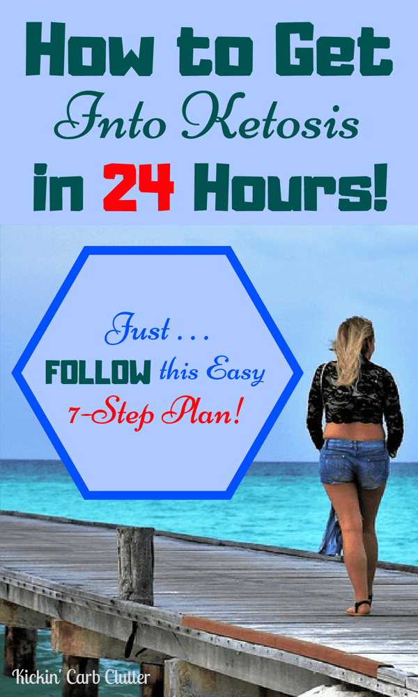 How to Get Into Ketosis in 24 Hours: Just follow this easy 7-step plan! #diet #fitness247