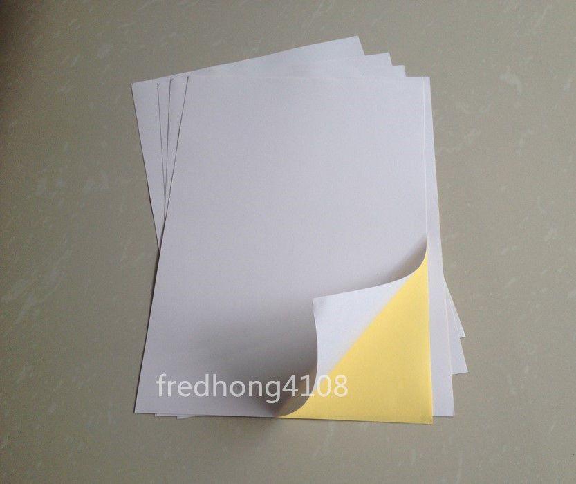20 sheets Matte A4 Kraft Printable Self Adhesive Label Sticker Printer Paper