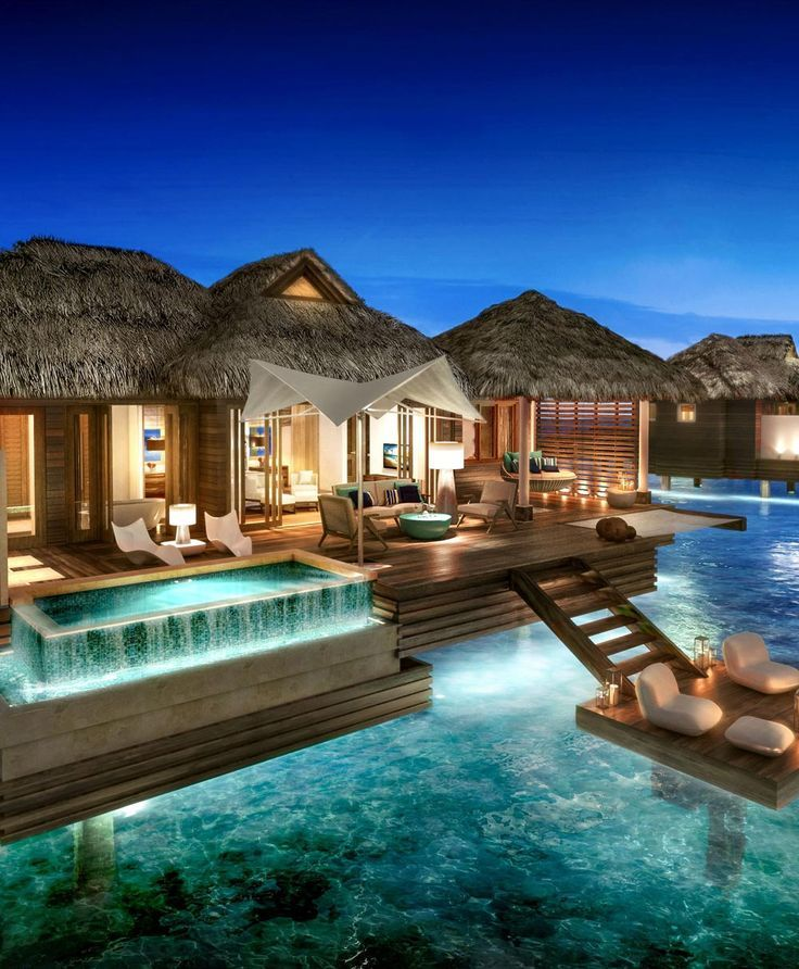 Over The Water Bungalows St Lucia: These Overwater Hotel Suites Are INSANE (& All-Inclusive