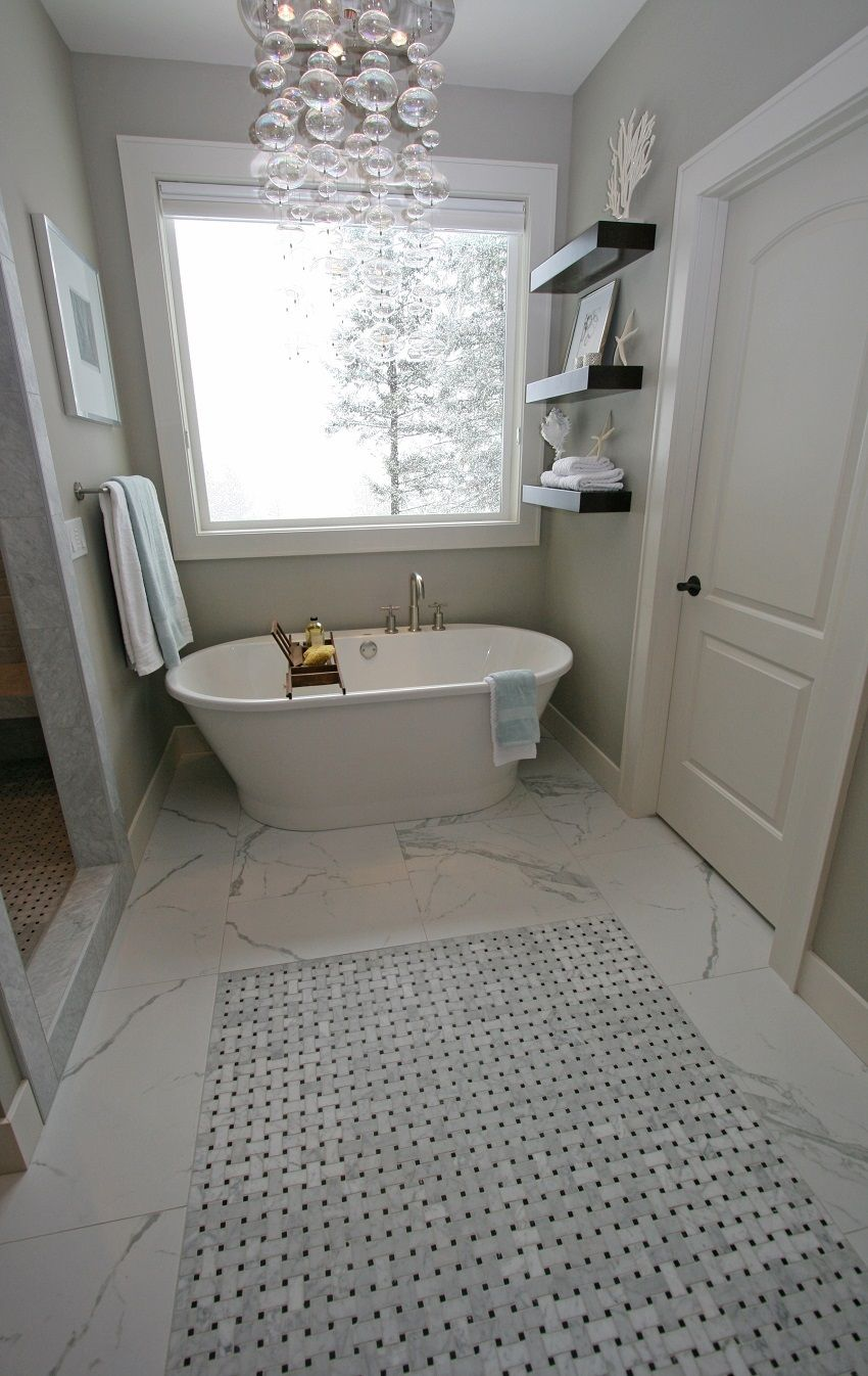 This gorgeous mosaicmonday installation of our duomo bianchi and this gorgeous mosaicmonday installation of our duomo bianchi and marble basketweave mosaic accent by taylor bathroom remodellingflooring tilesfloorsmarble dailygadgetfo Choice Image