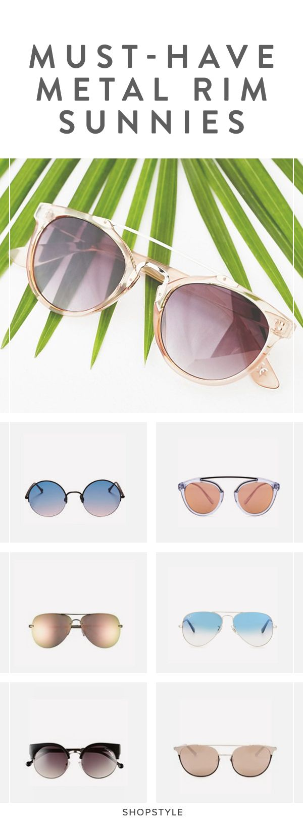 The Prettiest Metal-Rim Sunglasses You've Ever Laid Your ...