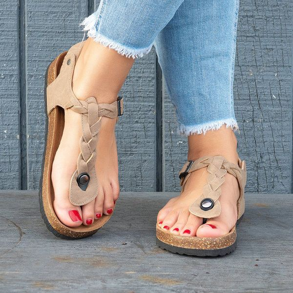 ecb621a60 Women Sandals Casual Flip Flops Beach Shoes - gifthershoes