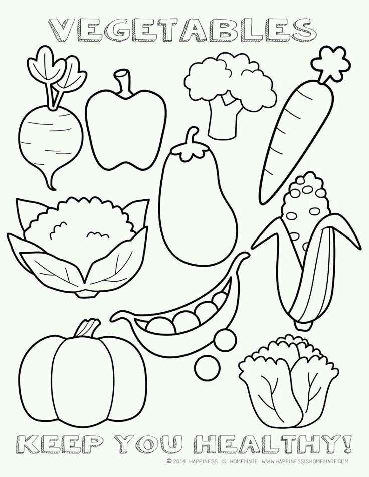 Pin By Iva Kroupová On Väritystehtäviä Vegetable Coloring Pages Food Coloring Pages Fruit Coloring Pages
