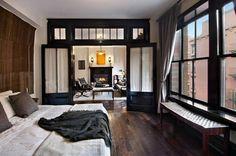 Luxe Interieur Inrichting : Luxe slaapkamer van kamer appartement new york interieur