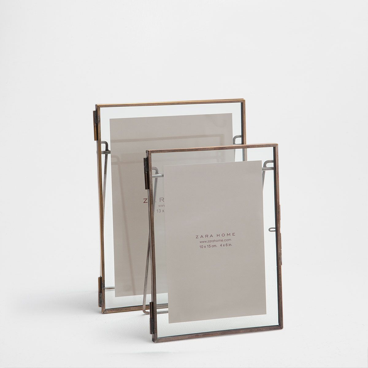 Image 1 of the product Stand-up mirror in aged golden metal | Home ...