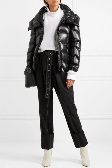 Moncler | Akebia quilted patent-shell down jacket | NET-A-PORTER.COM