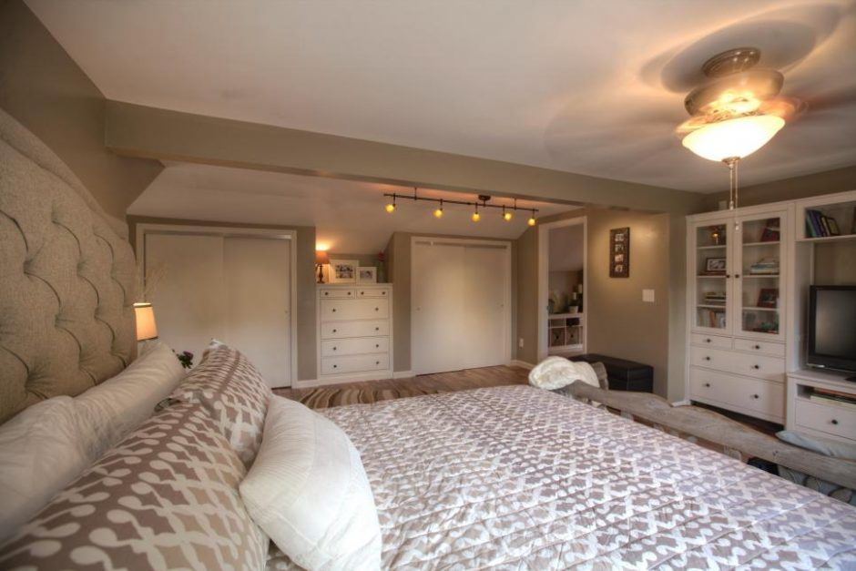 Design Ideas Ceiling Fan In Neutral Master Bedroom With Built Ins