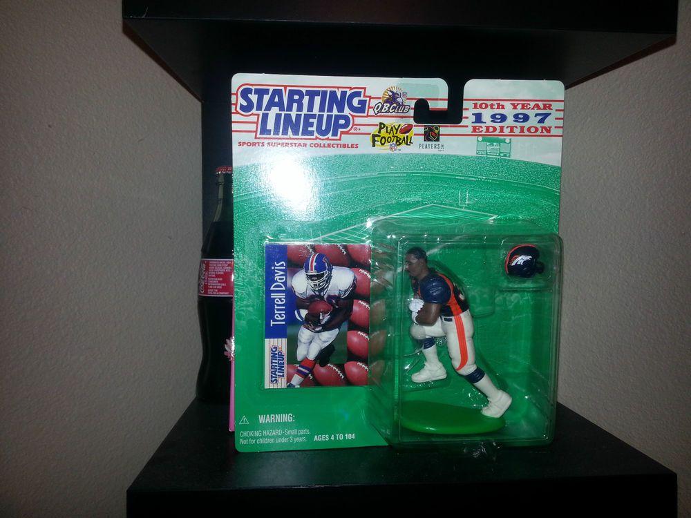 TERRELL DAVIS Denver Broncos 1999 Football 2000 Starting Lineup Figure Figurine