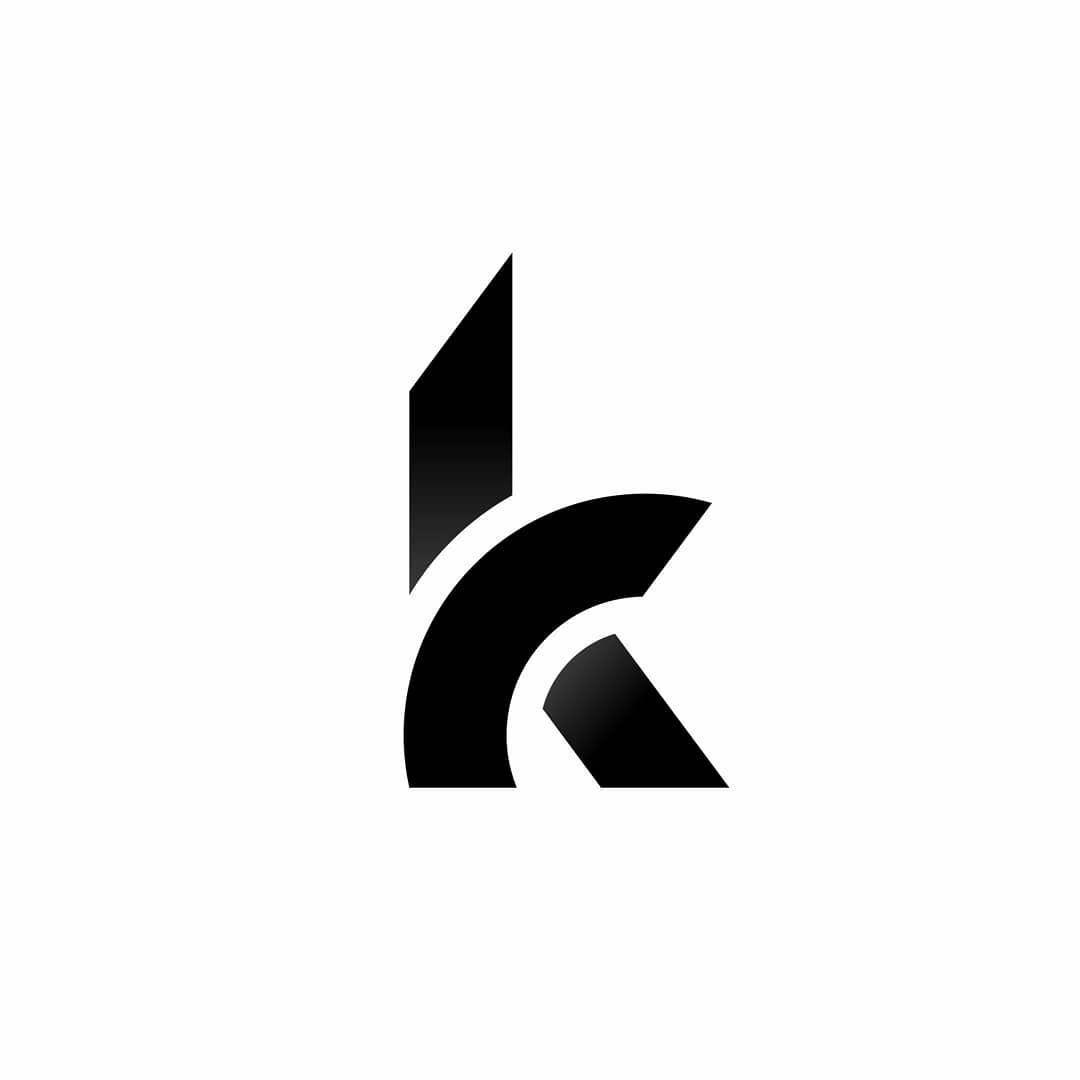 K Logotype K Letter K Monogram Logo Design Ideas K Black And White Minimal Geometric Logo Design Monogram Logo Design Geometric Logo Geometric Logo Design