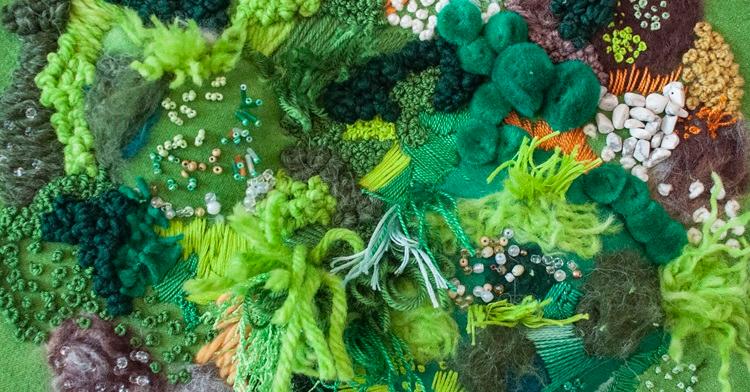 Amy Louise Baker: Moss-inspired fiber art – TextileArtist.org