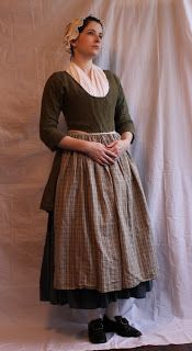 Diary of a Mantua Maker: Jackets: Short gown.  It's very simple, being a singular piece and unlined.  There are facings on the sleeves to allow them to fold back.  The center front laps over and pins shut.  Edges are simply rolled to be finished.  This is my lightest garment, made out of complete necessity for a Virginia summer.