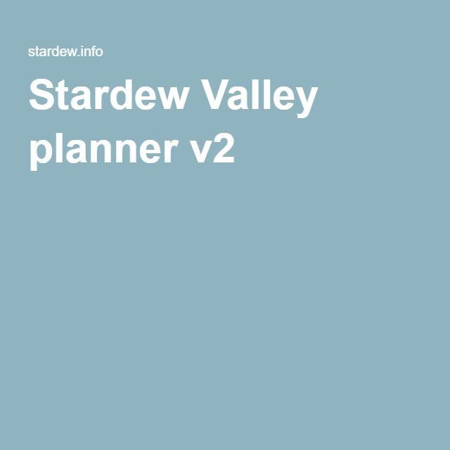 Stardew Valley planner v2 video game resources Pinterest