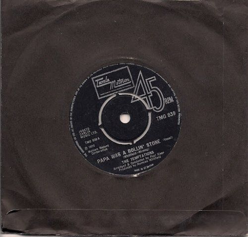 "The Temptations Papa Was A Rollin' Stone UK 45 7"" sgl Tamla Motown TMG 839 by : Amazon.co.uk: Music"